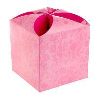 "Подарочная коробка ""Стиль"", сборная, розовая 9 х 9 х 9.5 см"