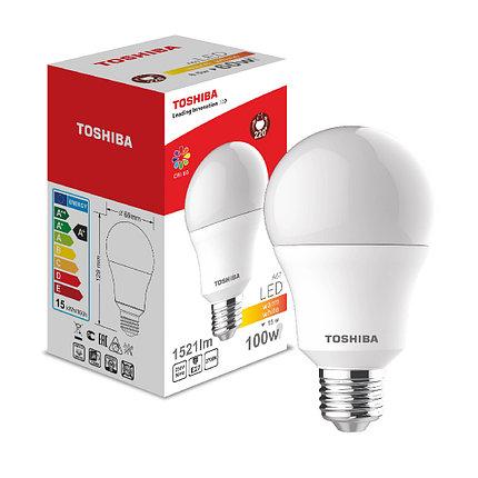 Светодиодная лампа Toshiba A60 15W (100W) 2700K 1521lm E27 ND Тёплый, фото 2