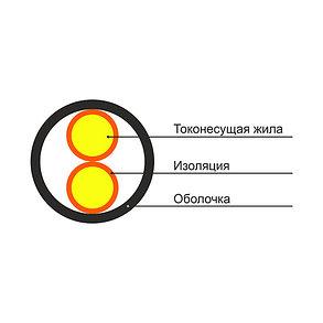 Кабель ВВГ-Пнг 2х2.5 (100 м/б), фото 2