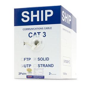 Кабель сетевой SHIP D105-2 Cat.3 UTP PVC, фото 2