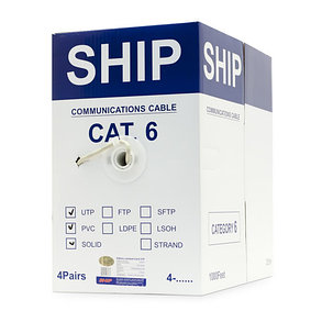 Кабель сетевой SHIP D165-P Cat.6 UTP PVC, фото 2