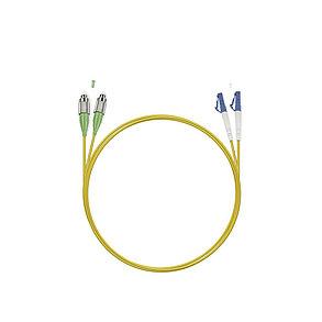 Патч Корд Оптоволоконный FC/APC-LC/UPC SM 9/125 Duplex 2.0мм 1 м, фото 2