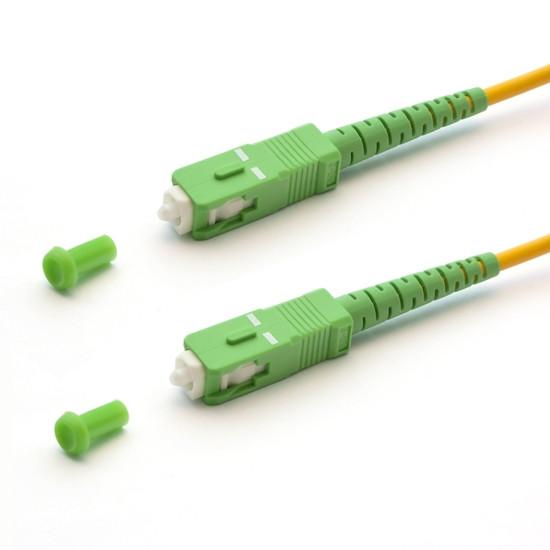 Патч Корд Оптоволоконный SC/APC-SC/APC SM 9/125 Simplex 3.0мм 1.5 м