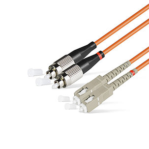 Патч Корд Оптоволоконный SC/UPC-FC/UPC MM OM2 50/125 Duplex 3.0мм 1 м, фото 2