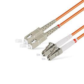 Патч Корд Оптоволоконный SC/UPC-LC/UPC MM OM1 62.5/125 Duplex 3.0мм 1 м