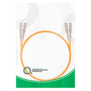 Патч Корд Оптоволоконный SC/UPC-SC/UPC MM OM1 62.5/125 Duplex 3.0мм 1 м, фото 2