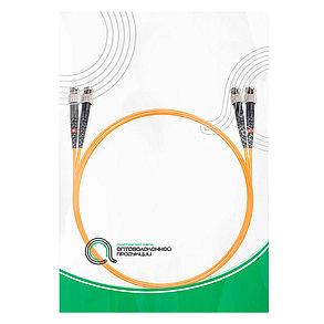 Патч Корд Оптоволоконный ST/UPC-ST/UPC MM OM2 50/125 Duplex 3.0мм 1 м, фото 2