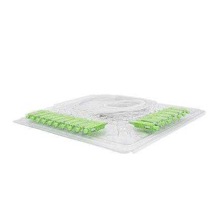 Сплиттер оптоволоконный PLC А-Оптик 1х16 SC/APC 1,5m SM, фото 2