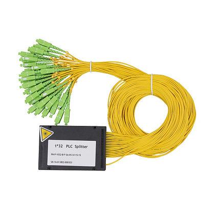 Сплиттер оптоволоконный PLC с брекетом А-Оптик 1х32 SC/APC 1,5m SM, фото 2