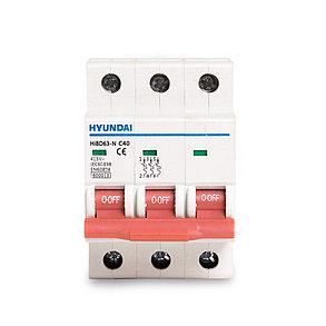 Автоматический выключатель реечный HYUNDAI HIBD63-N 3PMCS0000C 3Р 50А, фото 2