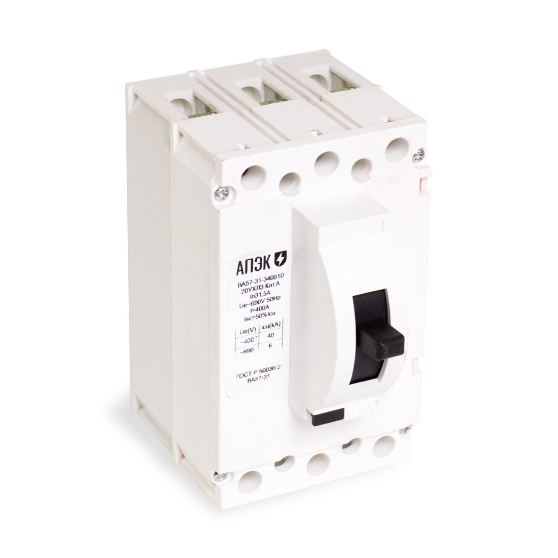 Автоматический выключатель АПЭК ВА57-31-340010 3Р 100A