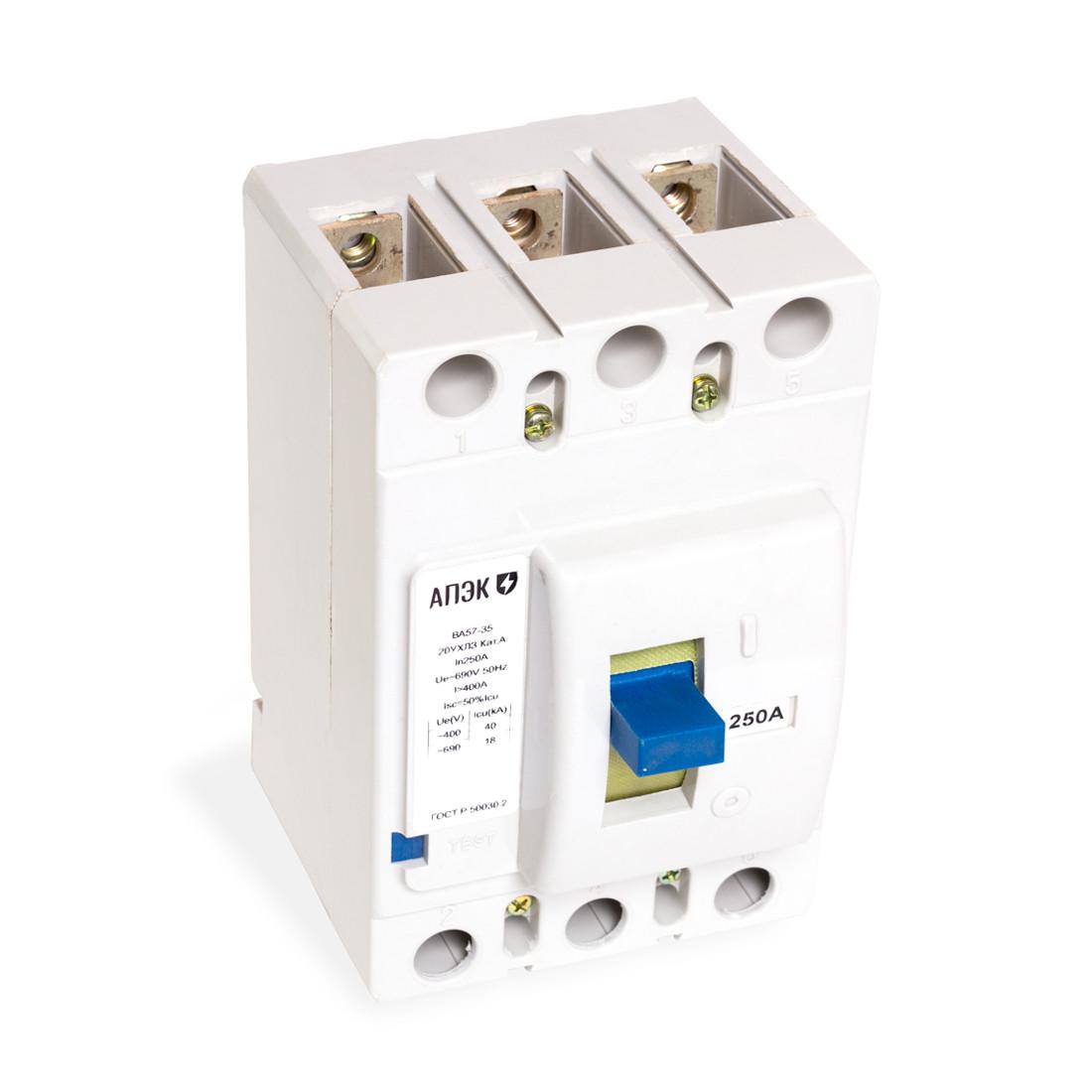 Автоматический выключатель АПЭК ВА57-35-34100 3Р 125A