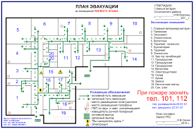 План эвакуации (Схемы проезда)