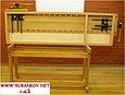 Верстак столярный 2000*600мм, деревянный, с двумя тисками и лотком, фото 5