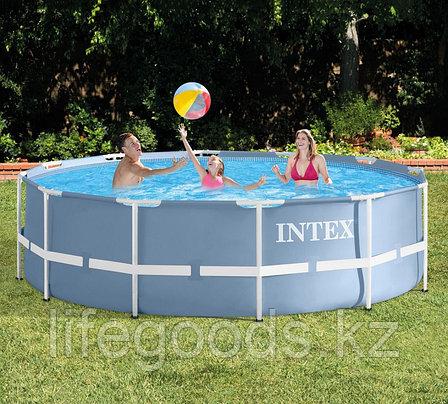 Каркасный бассейн круглый 366х99см с фильтр-насосом и лестницей , Intex 28718/28716, фото 2