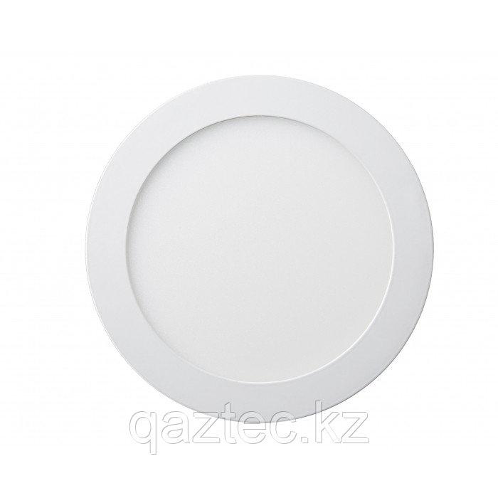 Панель светодиодная круглая накладная 12W