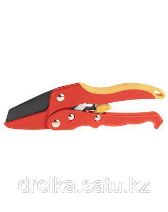 Секатор садовый GRINDA 8-423317_z01, двухкомпонентные, нейлоновые, фиберглассовые ручки, храповый механизм