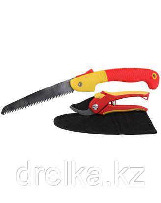 Набор садовых инструментов GRINDA 8-423251-H3_z01, 3 предмета: секатор, ножовка складная, нейлоновый чехол