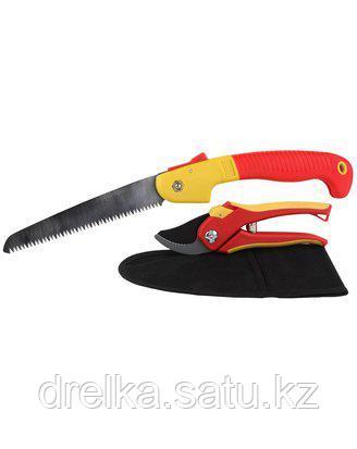 Набор садовых инструментов GRINDA 8-423251-H3_z01, 3 предмета: секатор, ножовка складная, нейлоновый чехол , фото 2