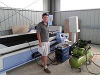 Наши рабочие будни. Август 2014 года. Склад. Плазменный станок с ЧПУ 1500*3000мм.