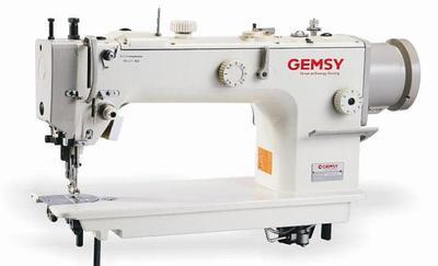 Одноигольная промышленная швейная машина челночного стежка с тройным продвижением материала  Gemsy GEM 0611D