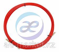 Протяжка кабельная (мини УЗК в бухте), стеклопруток, d=3, 5мм, 15м КРАСНАЯ