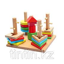Деревянный логический сортер-головоломка, фото 3