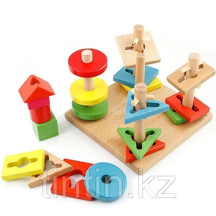 Деревянный логический сортер-головоломка, фото 2