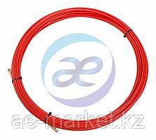 Протяжка кабельная (мини УЗК в бухте), стеклопруток, d=3, 5мм, 20м КРАСНАЯ