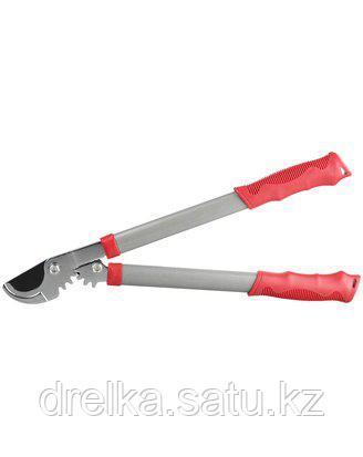 Сучкорез садовый GRINDA 8-424103_z01, с тефлоновым покрытием, стальные ручки, рычаг с зубчатой передачей, 465м