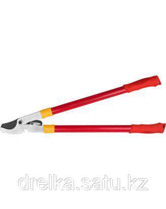 Сучкорез садовый GRINDA 8-424105_z01, с тефлоновым покрытием, стальные ручки, рычаг с зубчатой передачей, 660м
