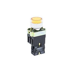 Кнопка открытая ANDELI XB2-BW3571 (жёлтая с подсветкой), фото 2