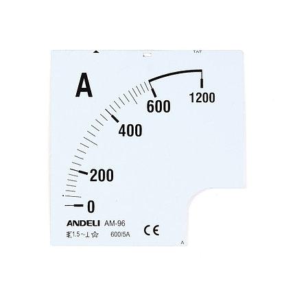 Шкала для амперметра ANDELI 100/5 (new), фото 2