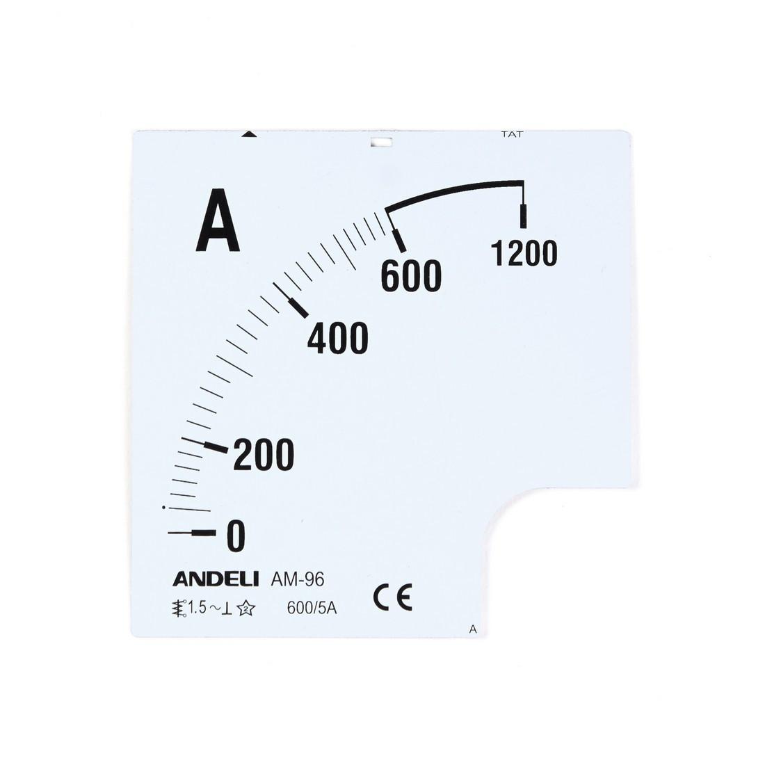 Шкала для амперметра ANDELI 600/5 (new)
