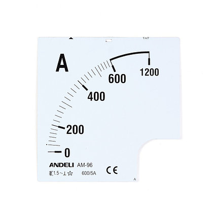Шкала для амперметра ANDELI 600/5 (new), фото 2