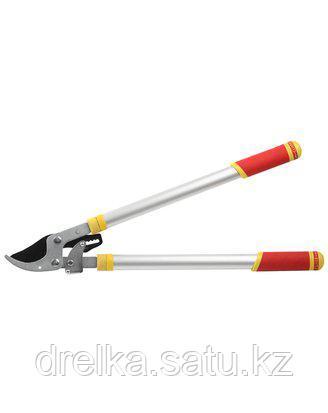 Сучкорез садовый GRINDA 8-424391_z01, с тефлоновым покрытием, алюминиевые телескопические ручки, двухрычажный