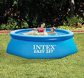 Круглый надувной бассейн 244х76см, Intex 28110