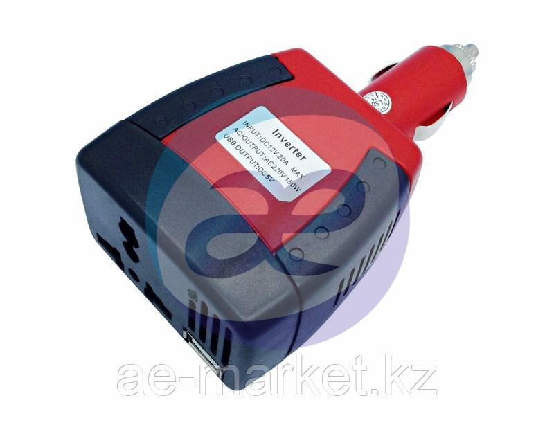 Автомобильный инвертор 75W 12V - 220V c USB портативный REXANT