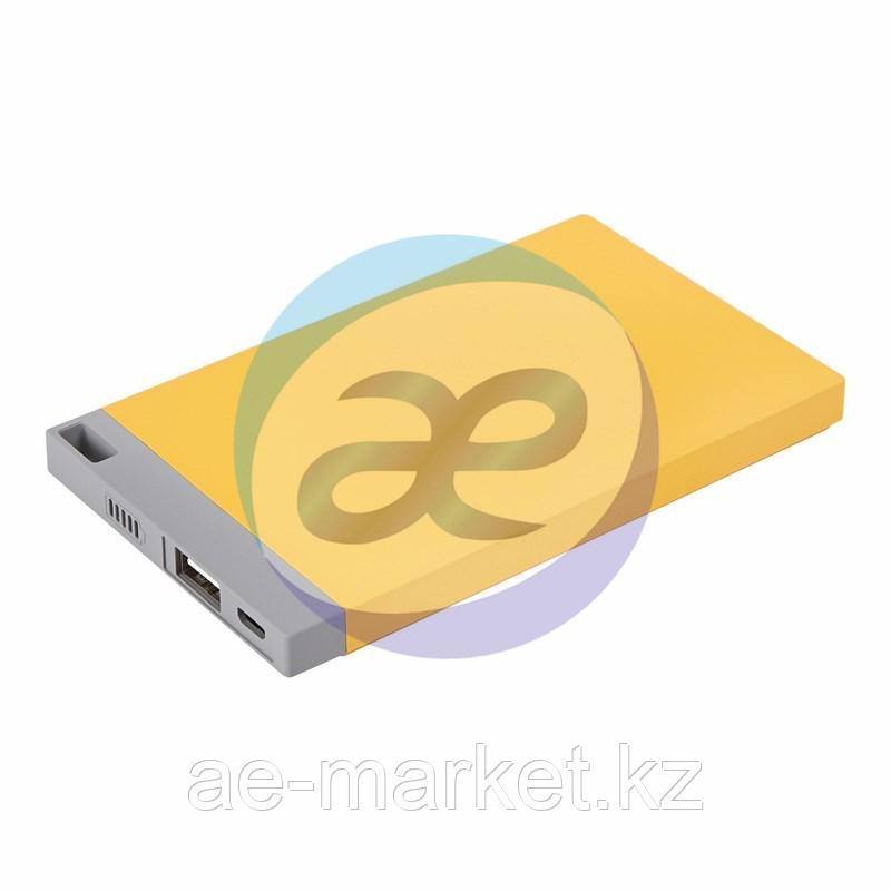 Портативное зарядное устройство Power Bank 4000 mAh USB PROconnect (ЦВЕТ ЖЕЛТЫЙ)
