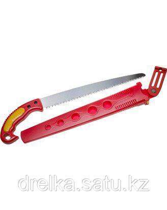 Ножовка GRINDA садовая, шаг зуба 4,0 мм (6 TPI), длина полотна 300 мм, в ножнах, 8-151853_z01