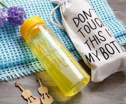 Бутылочка с чехлом для напитков My Bottle 500 мл (май батл желтая) - фото 1