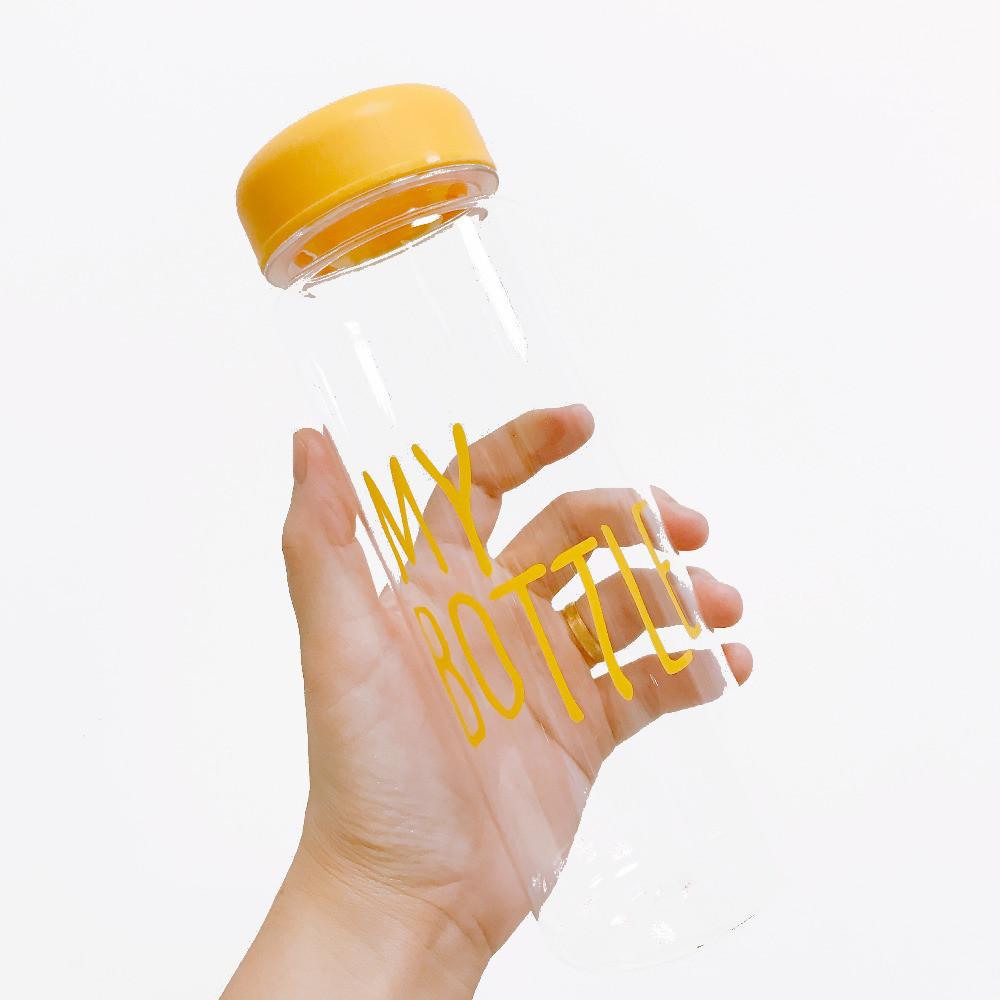 Бутылочка с чехлом для напитков My Bottle 500 мл (май батл желтая) - фото 9