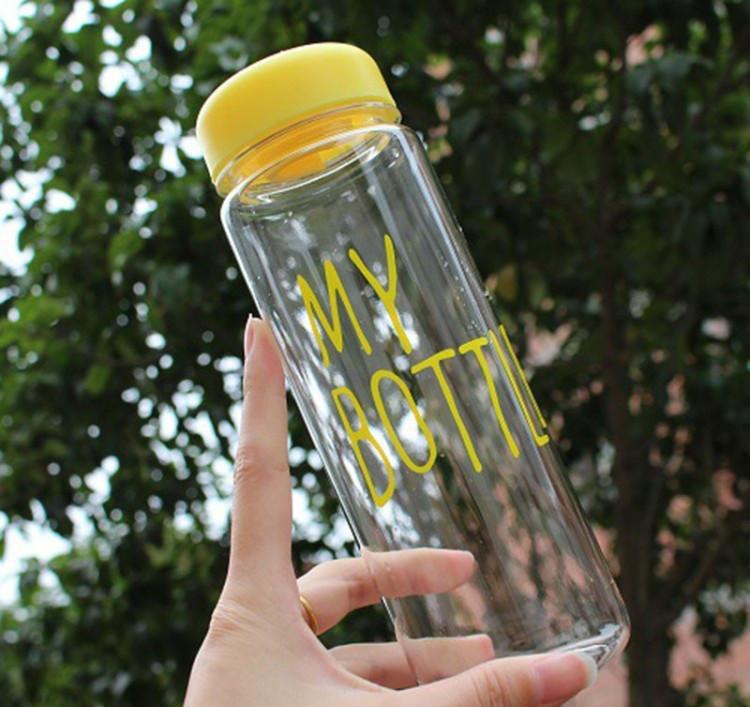 Бутылочка с чехлом для напитков My Bottle 500 мл (май батл желтая) - фото 10