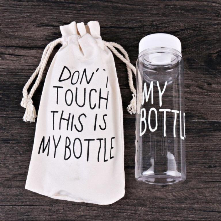 Бутылочка с чехлом для напитков My Bottle 500 мл ( май батл белая) - фото 6