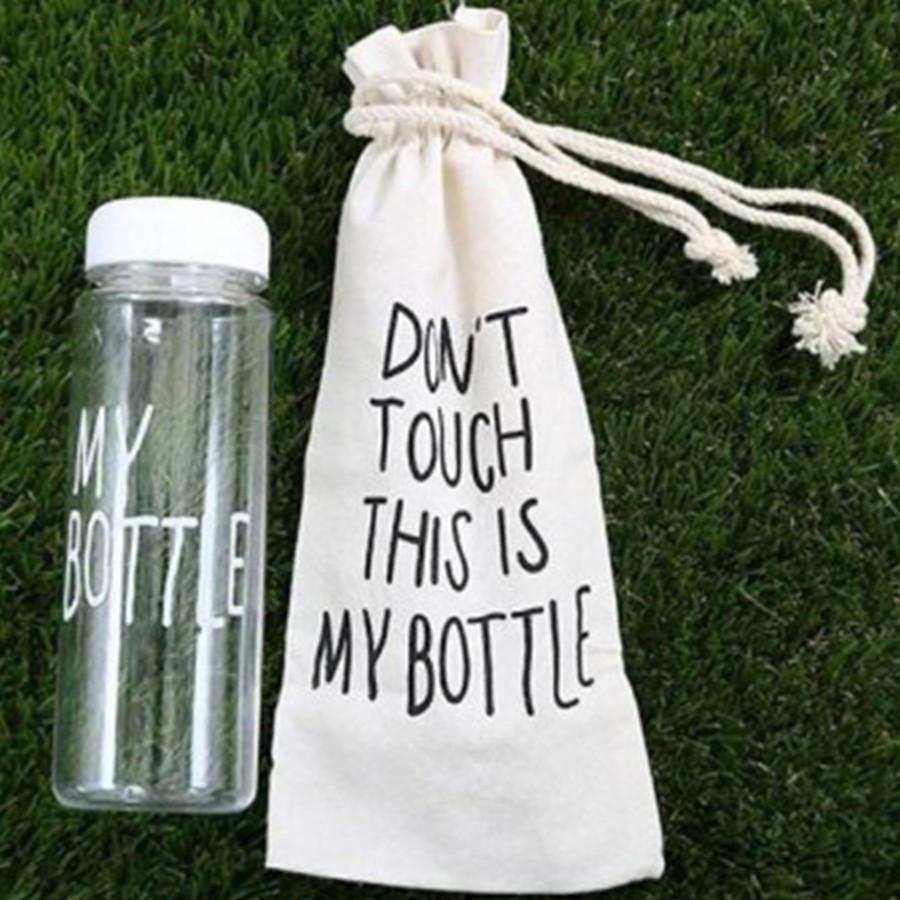 Бутылочка с чехлом для напитков My Bottle 500 мл ( май батл белая) - фото 1