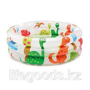"""Детский надувной бассейн """"Динозаврики"""" 61x22см, Intex 57106, фото 2"""