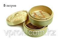 Китайская пароварка для подачи мантов, бамбуковая, 5 л., фото 1