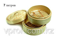 Китайская пароварка для подачи мантов, бамбуковая, 7 л., фото 1