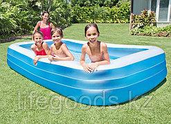 Семейный надувной бассейн прямоугольный 305х183х56см, Intex 58484