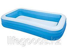 Семейный надувной бассейн прямоугольный 305х183х56см, Intex 58484, фото 3